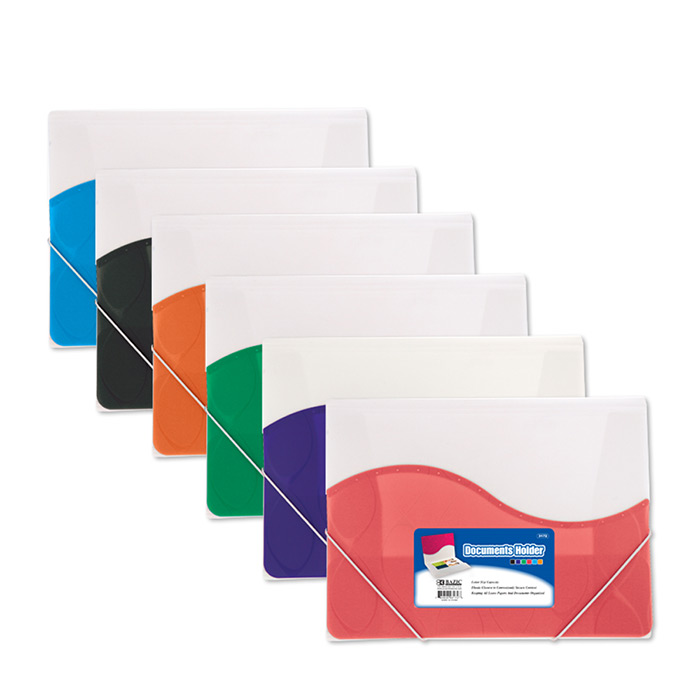 Letter Size Document Holder w/ Elastic Band