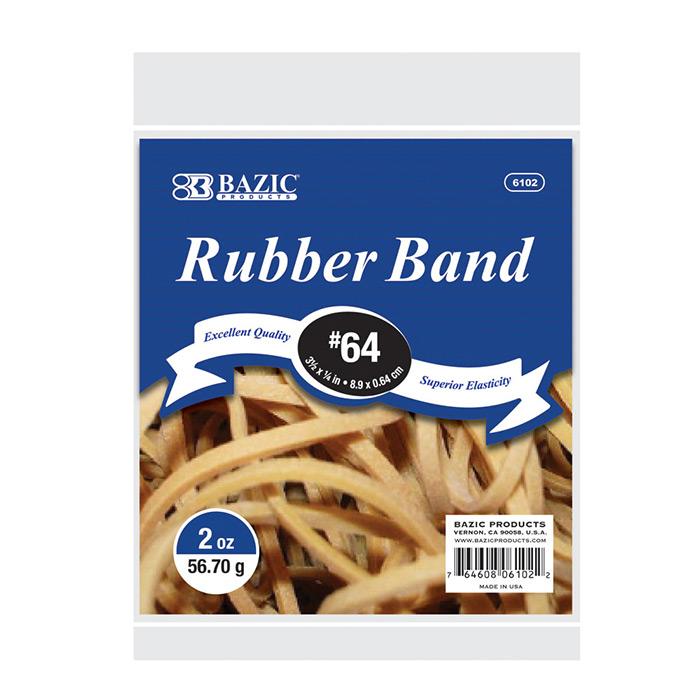 2 Oz./ 56.70 G #64 RUBBER BANDS