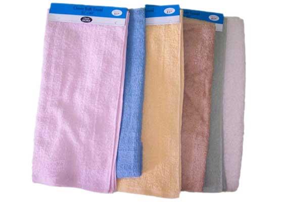 Solid Color Terry BATH TOWELs