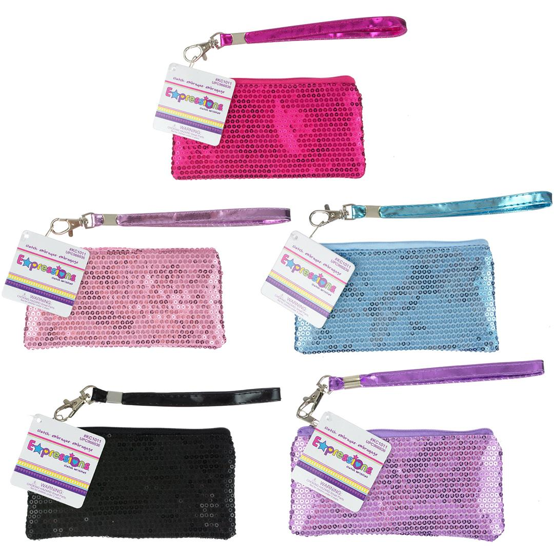 Sequin CLUTCH With Keyholder