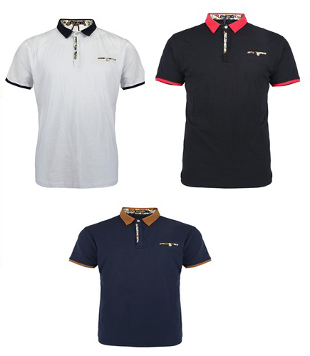 Men's Active Polo SHIRTs - Solid Colors - Sizes Small-2X