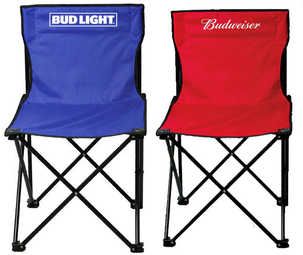 Budweiser/Bud Light Tailgate CHAIRs - Assorted Brand Styles