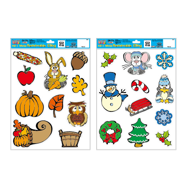 Fall & Winter Removable Window Decal Sets