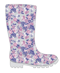 Women's Printed Jelly RAINBOOTS