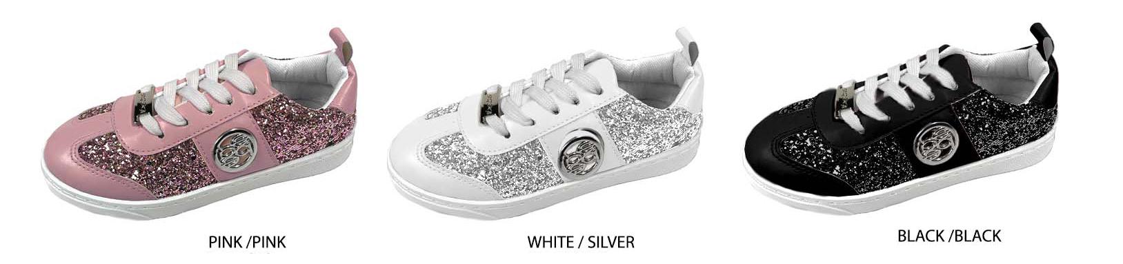 Girl's Low-Top SNEAKERS w/ Glitter Embellishment