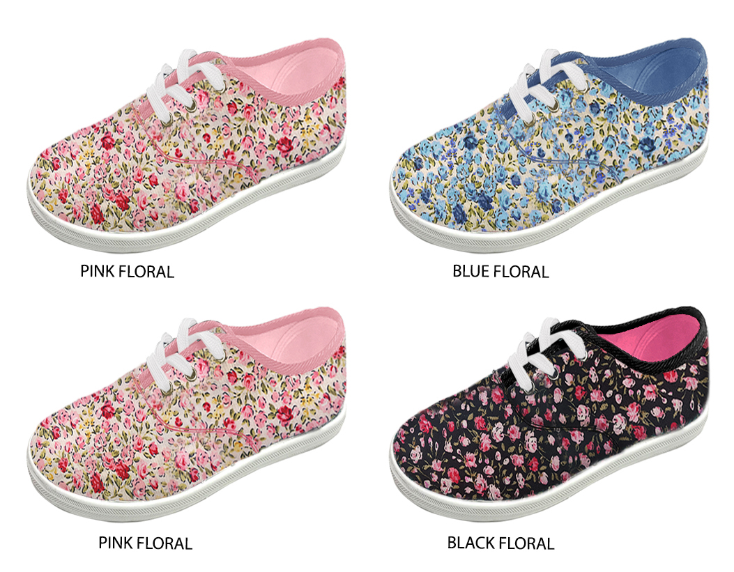 Girl's Canvas Lace-Up SNEAKERS