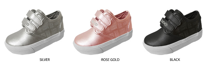 Toddler Girl's High Top SNEAKERS w/ Bebe Embrodiery & Perforated Logo Detail