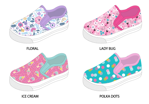 Toddler Girl's Printed Canvas SNEAKERS