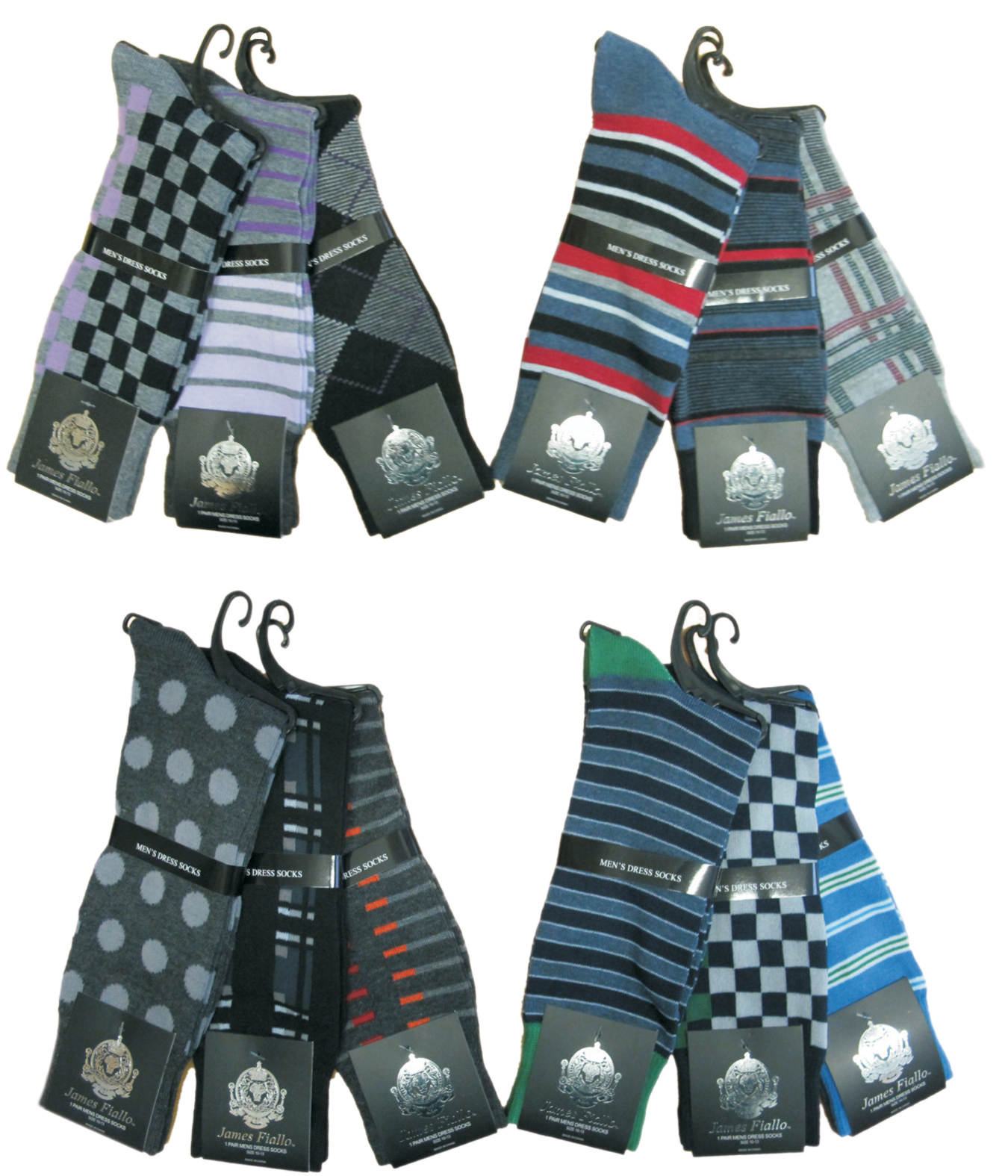 Men's Designer DRESS Socks - Assorted Prints - Size 10-13
