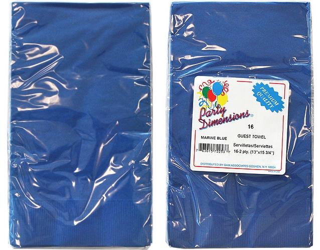 Blue Guest TOWELs/Napkins 16-Packs - Party Dimensions