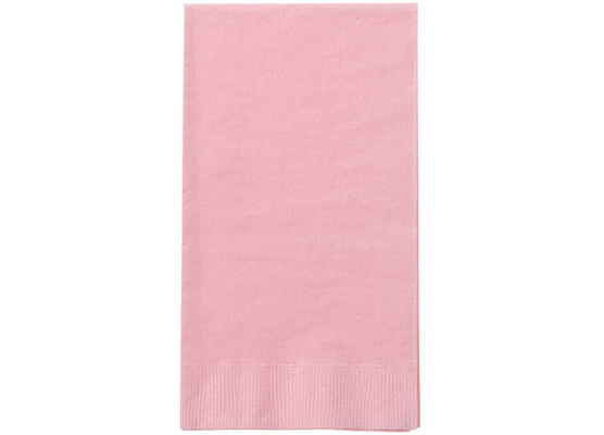 Light Pink Paper Guest TOWEL Napkins by Party Dimensions - 8'' x 4.5'' - 16-Packs