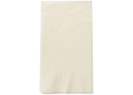 Ivory Paper Guest TOWEL Napkins by Party Dimensions - 8'' x 4.5'' - 16-Packs
