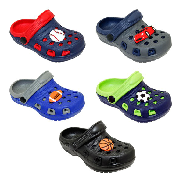 Boy's CLOGS w/ Patch Adornment - Sizes 5-10