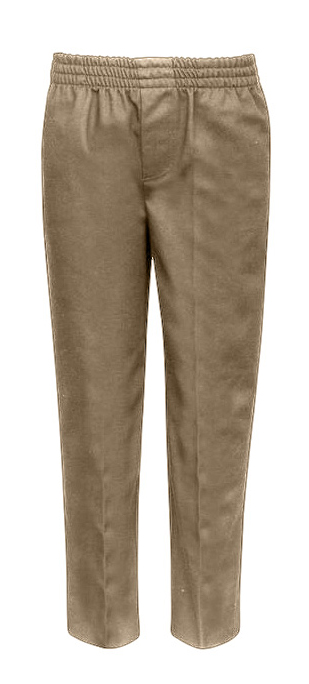 Little Boy's & Girl's Pull-On School UNIFORM Trouser Pants - Khaki - Choose Your Sizes (4-7)