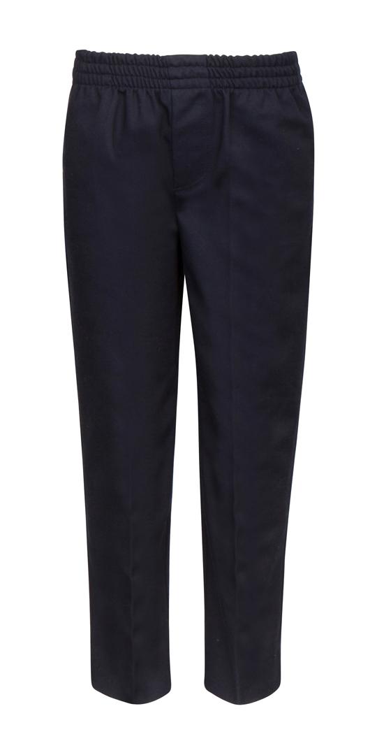 Little Boy's & Girl's Pull-On School UNIFORM Trouser Pants - Navy Blue - Choose Your Sizes (4-7)