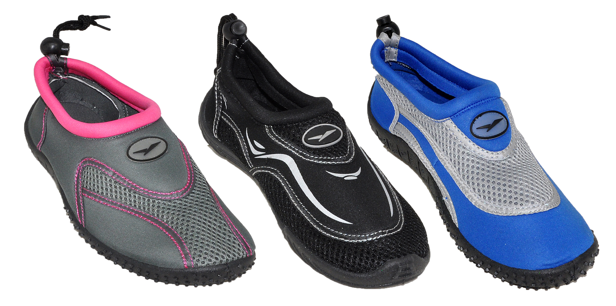 Women's Aqua SHOES w/ Drawstring & Toggle - Assorted Color - Sizes 5-10